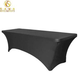 연회 호텔 대중음식점 Rectangletablecloth 테이블 치마