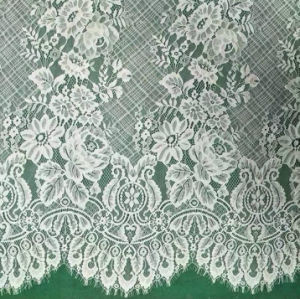 Ecológico de Borda Eyelash tingimento de tecidos Lace (DS1113)