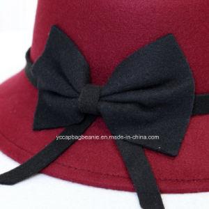 Senhoras de moda chapéu de feltro de lã