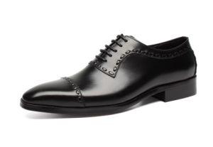 Los hombres de cuero Zapatos de Primavera / Otoño Goodyear Soles negros Oxfords