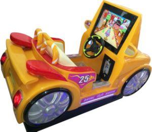 ملكيّة مسابق سيارة [كيدّي] عمليّة ركوب رسم متحرّك عملة مرئيّة يشغل قنطرة آلة (أحمر)