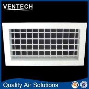 Suministro de aire de deflexión de doble techo de la parrilla de rejilla de aire acondicionado