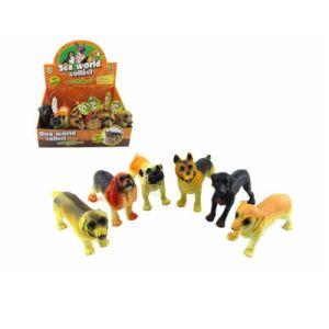 De Vinyl Plastic die Hond van de simulatie met de Dieren van de Vezel/van het Gevogelte van de Polyester wordt gevuld