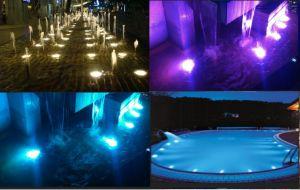 IP68 de alta potencia 12W 1000LM de acero inoxidable 316L LED empotrado bajo el agua de la luz de la piscina