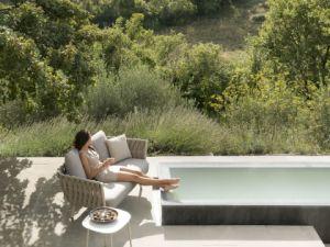 Best populares mobília do pátio piscina Alumínio e sofá de Corda