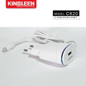 iPhone direkte Aufladeeinheits-Wand-Ausgangsarbeitsweg-Aufladeeinheits-beweglicher Adapter mit 3FT Blitz-Kabel für iPhone iPad