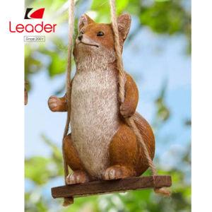 Bébé Polyresin Fox sur rotation Figurine de jardin pour la décoration de jardin