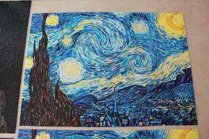 Handcutの芸術のモザイクPanel/VincentヴァンGogh-Theの星明かりの夜