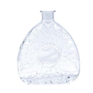 Botellas de cristal con decoración para el vodka, ginebra, el ron, licor