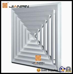 Diffuseur de plafond carré de 1 à 4 voies de l'air Registre de la calandre