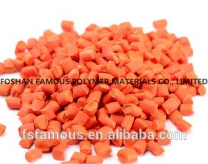 PE, pp, ABS, Rang van het Voedsel van Masterbatch van de Pijp van de Techniek van de Plastieken van Masterbatch van de Kleur van het Huisdier de Oranje