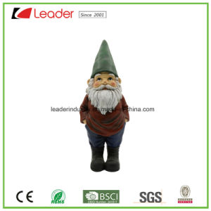 Polyresin figurita de Gnome con un libro sentado de ornamentos de jardín