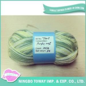 Lado de tricotar lenço de Inverno de Fios de lã de fantasia de Artesanato