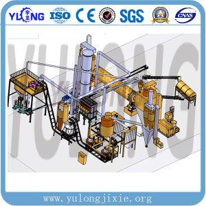 Yulong Brand Vertical 반지 Die Wood Sawdust Pellet Machine Line 4-6t/H
