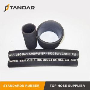 Tubo flessibile di gomma idraulico flessibile della superficie del panno 4sh dell'en 856 con l'accoppiamento