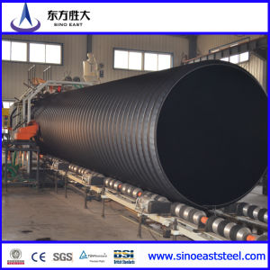 Banda de acero de HDPE reforzado de plástico de polietileno tubo corrugado