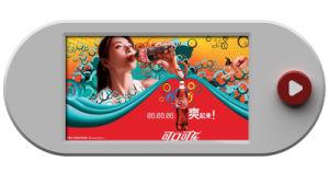 '' affissione a cristalli liquidi a pile della video esposizione del tasto dell'affissione a cristalli liquidi 9 che fa pubblicità all'esposizione