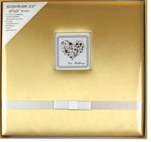 12x12 tecido de seda Álbum Scrapbook para o bebé