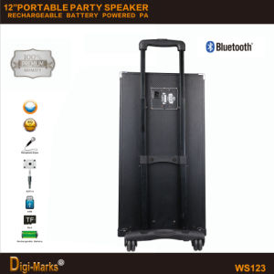 Диктор Bluetooth двойной батареи силы PA 12-Inches напольной беспроволочной передвижной