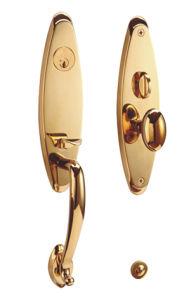 Chapado en oro de latón estándar americano de cerradura de puerta balseta
