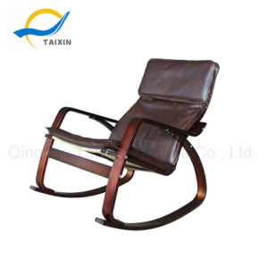 (TXRC-04) Brown PU fauteuil mobilier en noyer de tissu