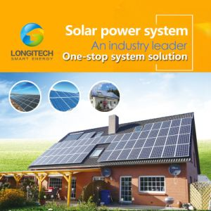 Système d'alimentation solaire Longitech 3kw/5kw/7kw/10kw/15kw Système solaire pour la maison