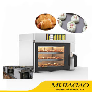 Horno de combinación de cuatro bandejas comerciales fabricante horno de convección de aire caliente