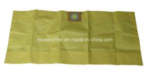 Sacchetti gialli di filtrazione di alta efficienza per gli aspirapolveri