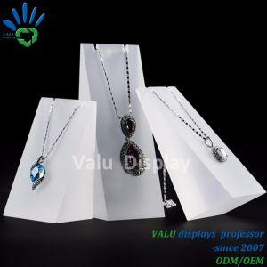 Banco di mostra acrilico dei monili per il banco di mostra della collana (VAJ502)