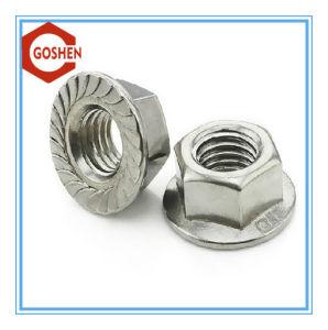 Bouchon hexagonal de l'écrou en acier, écrou à embase, écrou en nylon