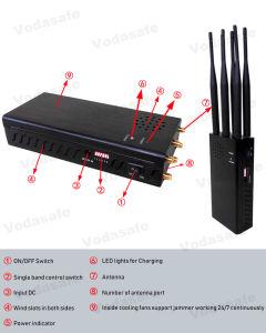 Portable 6bandas Jammer/Blocker CDMA/GSM/3G/4glte celular/WIFI/Bluetooth Breaker banda completa GPSL1-L5 Jammer /Blocker