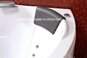 Bañera de hidromasaje de esquina en el interior con dos altavoces (CDT-001).