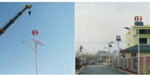 Turbina di vento a spirale verticale solare del sistema ibrido del vento di stile di rv 100W