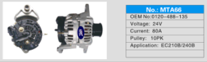 Alternator voor Volvo 210/Ec210/Volvo
