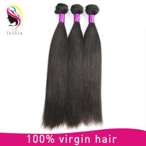 Comercio al por mayor de Brasil virgen de extensión de cabello liso cabello humano.