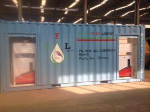 20FTおよび40FTの容器の2つのタンクが付いている移動式燃料の給油所
