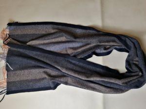 100%のウールのアイボリー・ブラックの小切手のスカーフ