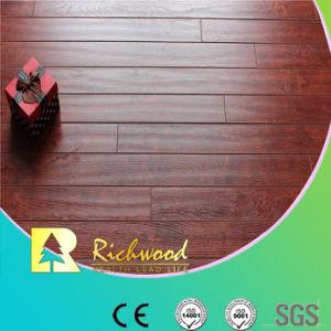 Comercial 12,3mm AC4 troquelados Hickory suelo laminado impermeable