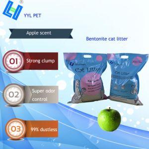 Lettiera della bentonite di buona qualità con il profumo del Apple