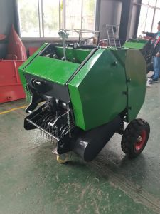 Trator montado Mini-Round enfardadeira de forragem para feno ou palha