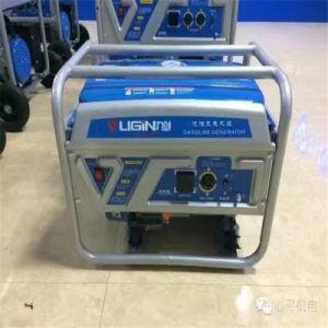 De Generator van de Benzine van de Motor 220/380V van de Generator 5.5kw van de Benzine van het Begin van de hand