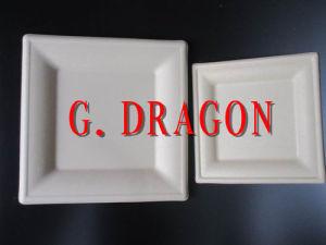 Biodegradable Ovenalbe Disposible Pulpa de paja de la placa de Alimentos (PPP-1014)