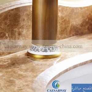 骨董品によってブラシをかけられる単一のレバーの真鍮の洗面器のミキサー