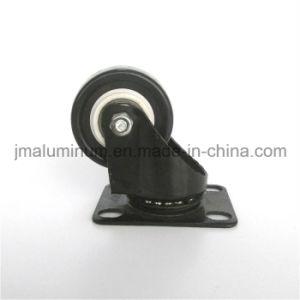 Rodízio Giratório preto com tamanhos de roda de 3 polegadas –Rodízio