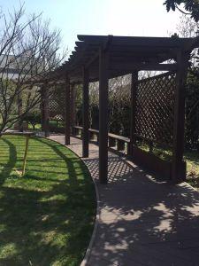 Nouveau design de décoration en bois de jardin en plastique Pergola composite