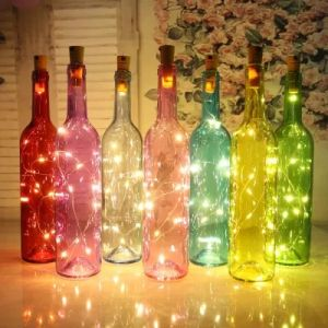 Tapón de botella de vino Corcho 2m 20 luces LED String
