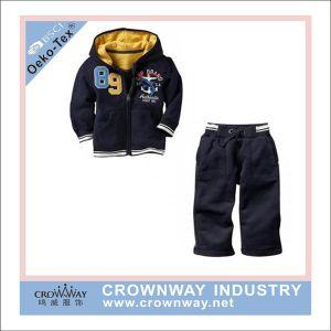 dea616f9009f0 Nueva Moda chicos Hoody trajes suéter de lana con bordado (CW-BKIDS-SW38)