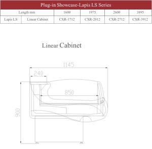 Ouvrir le service de verre courbé vitrine de magasin pratique Cxr-2712