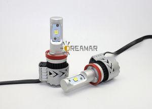Faro de LED de la base de H11 con 6000LM para el alquiler de auto bombillas LED