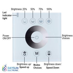 Panel de control táctil Dimmer LED Interruptor12V-24V, 144W 12A o 288 W y 6 de un interruptor de encendido/apagado del controlador de luz ajustable